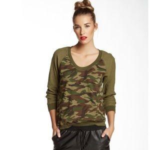 TRINA TURK Camouflage Sweatshirt